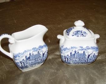 Wedgewood  Royal Homes of Britain China Sugar & Creamer Set