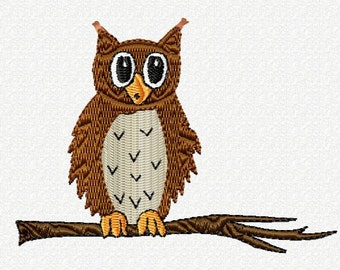 Embroidery pattern - Owl on a branch