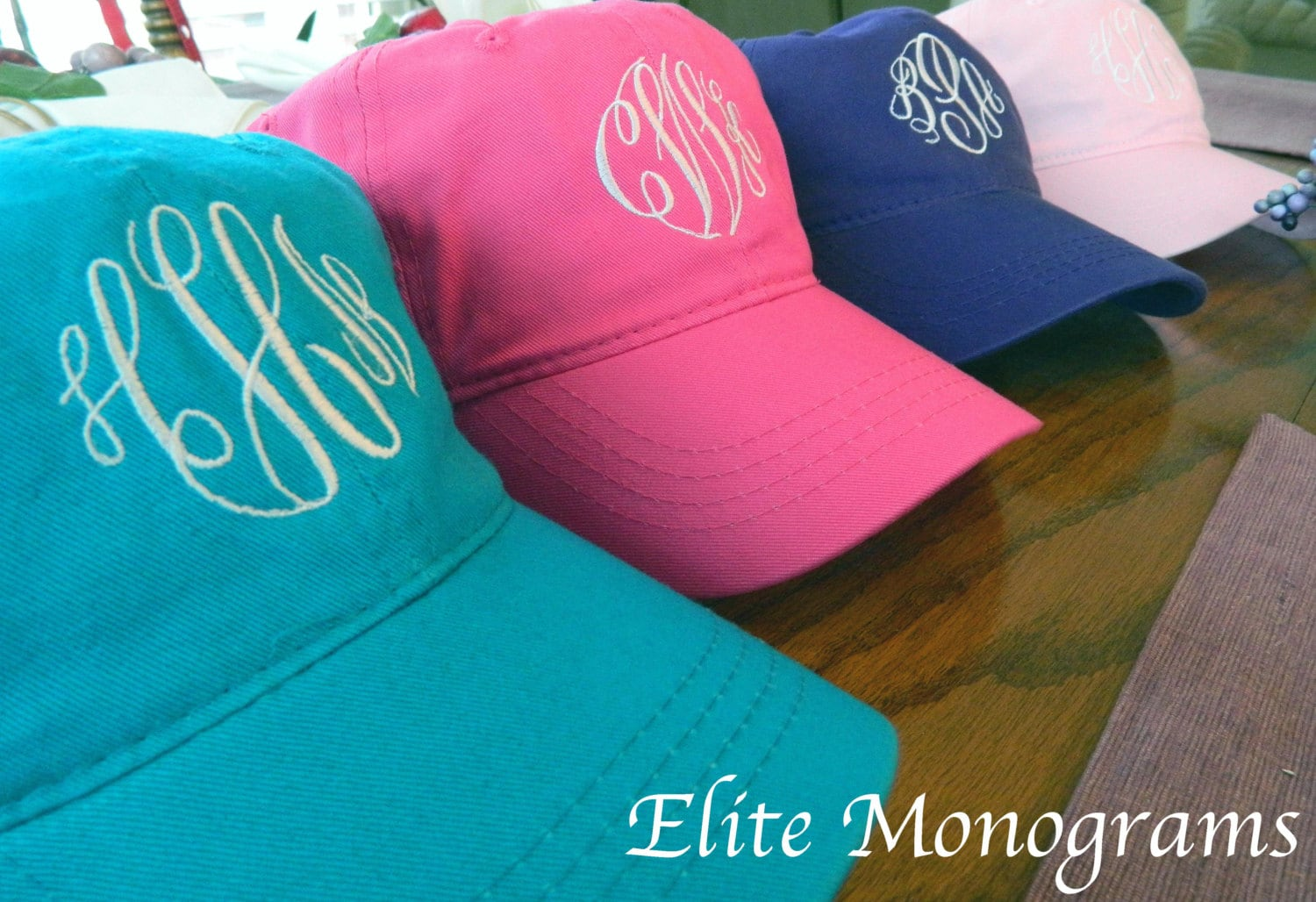 Monogrammed Hats Baseball Cap Hat. 25 COLOR by EliteMonograms