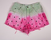 High wasted watermelon shorts size 7