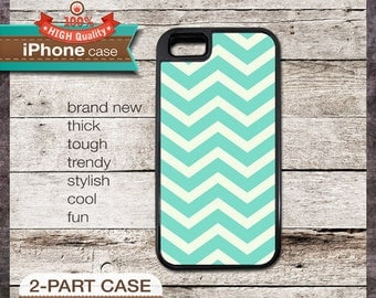 Modern Chevron 01 Teal Design - iPhone 6, 6+, 5 5S, 5C, 4 4S, Samsung Galaxy S3, S4