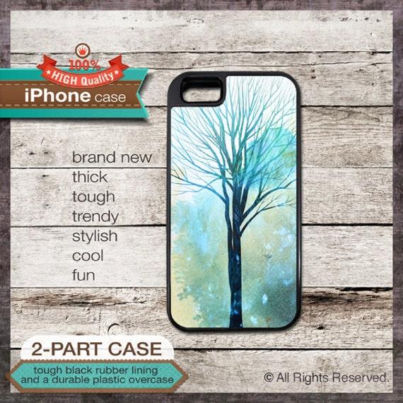 iPhone 6, 6+, 5 5S, 5C, 4 4S, Samsung Galaxy S3, S4 - Watercolor Tree Art - Design Cover 67