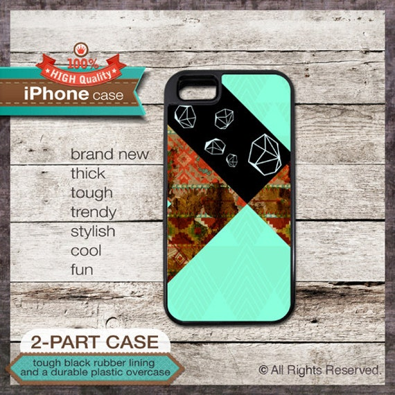 Diamond handmade art design - iPhone 6, 5 5S, 5C, 4 4S, Samsung Galaxy S3, S4 - Cover 115