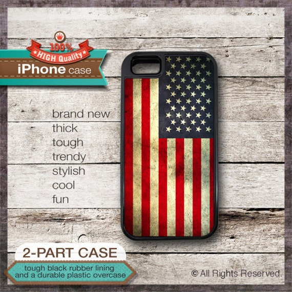 United States Flag - iPhone 6, 6+, 5 5S, 5C, 4 4S, Samsung Galaxy S3, S4