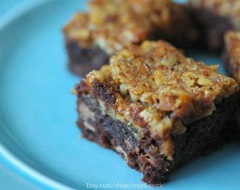 Pecan Pie Chocolate Brownie - Edible Gift - Gourmet Gift - Food Gift - Chocolate Brownie - Birthday Gift - Brownie Gift - Gourmet Brownie