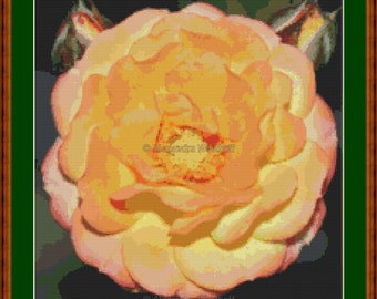 "Cross stitch chart ""Teerose"""