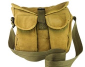 Vintage Mens Womens Military Tote Satchel Bag