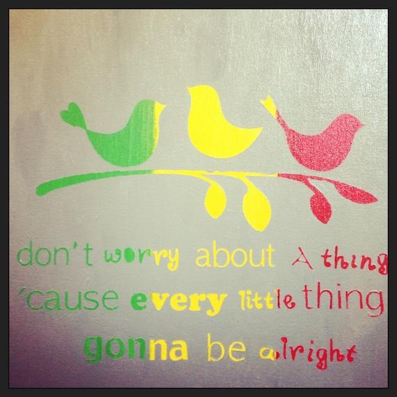 Bob Marley Three Little Birds 12x12 Acrylic By
