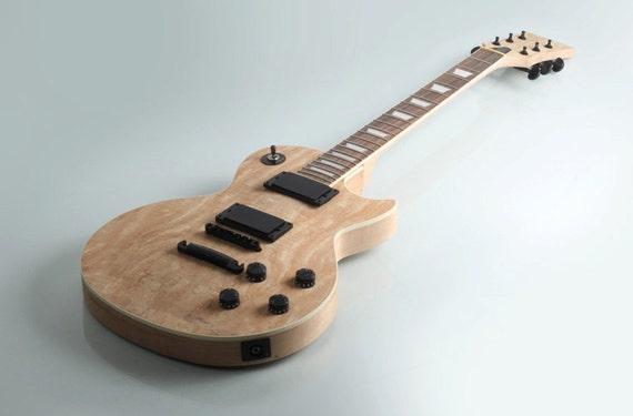 diy mahogany spalted maple veneer set in electric guitar kit. Black Bedroom Furniture Sets. Home Design Ideas