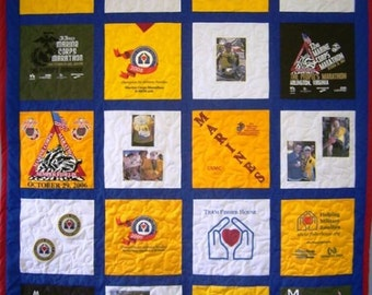 Custom T-Shirt Quilt: Twin, Machine-Quilted