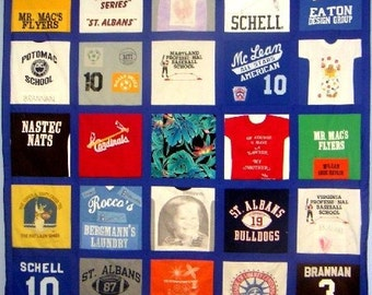 Custom T-Shirt Quilt: Full, Hand-Tied