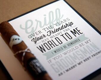 Will you be my Groomsmen? - Groomsmen Invite, groomsmen card
