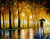 "Bewitched Park — PALETTE KNIFE Modern Art Oil Painting On Canvas By Leonid Afremov - Size: 40"" x 24"" (100 cm x 60 cm)"