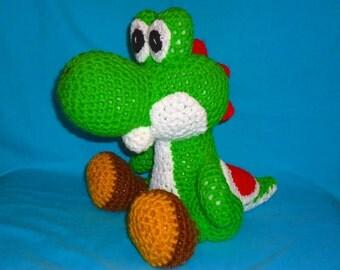 Yoshi pattern - crochet dinosaur pattern - geekery crochet amigurumi pattern - crochet doll pattern PDF digital download