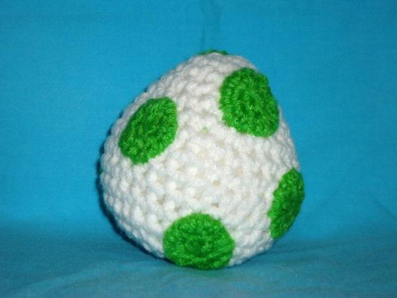 Yoshi egg pattern crochet amigurumi pattern by JBcrochetwizard