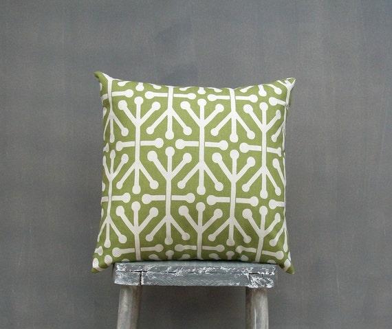 Olive Green Pillow Case Decorative Throw Pillow Cover Accent