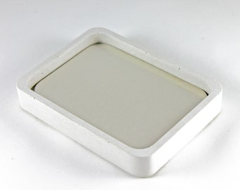 Concrete and Stainless Steel Soap Dish. Cement Soap Dish. Soap Dish.