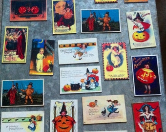 20 Halloween Magnets Vintage and Antique