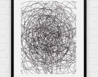 Scribble - Printable Poster - Digital Art, Download and Print JPG
