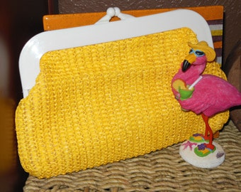 Vintage sunny yellow clutch
