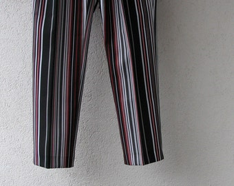 Sailor Striped Pants, Boho Chic Clothing, Vintage Women  Pants Stretch  Best Selling, Buy For Boho Looks