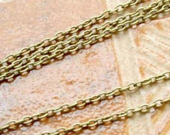 5 meters  Antiqued Brass finished iron round cable chain 3mm - unsoldered