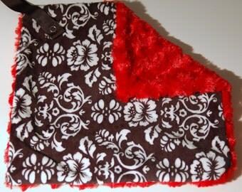 Black Damask Pacifier Blanket