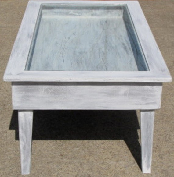 Old Window Coffee Table Shadow Box: Reclaimed Wood Shadow Box Coffee Table