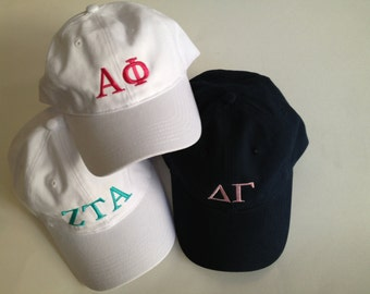 Embroidered Baseball Cap - Sorority Design