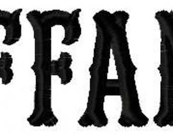Tiffany Machine Embroidery Fonts 1383