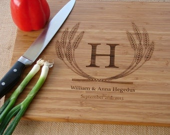Custom Cutting Board Couple's Anniversary Gift  Wedding Gift Wedding House Warming Party Hostess Gift Birthday Present