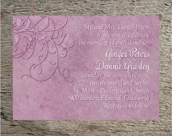 Printable Wedding Invitation, Save the Date, Vow Renewal