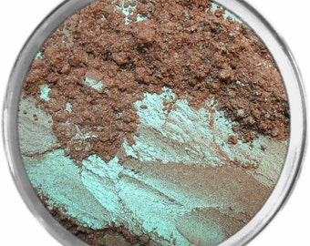 Choc Mint loose powder mineral multiuse color makeup bare earth pigment minerals