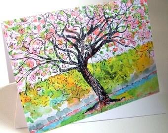 Cherry Blossom  Greetings Card