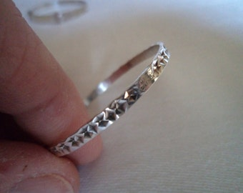 Vintage Beautiful Silver Baby Bangle