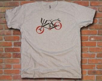 Greek  Alphabet  Font Bike Men T-Shirt