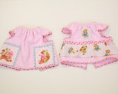 Vintage 80s strawberry shortcake lot of 2 newborn baby terry cloth dress handmade doll clothes