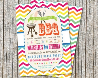 BBQ Party Invitation / BBQ Birthday Party Invitation