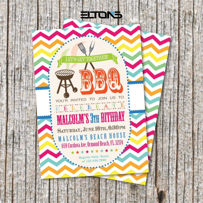 BBQ Party Invitation / BBQ Birthday Party Invitation