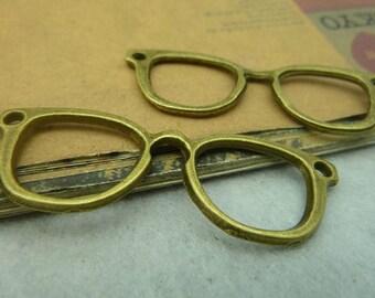 5pcs 19x52mm Ancient Bronze Pendant glasses