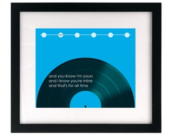 Buddy Holly.  Song Lyric Art Print wall hanging, home decor, wedding gift idea