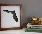 Reserved for Stephanie Florida State Silhouette Frame with Custom Date