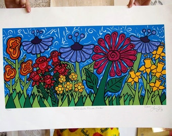 Ed and Wanda's Flower Garden Limited Edition Serigraph