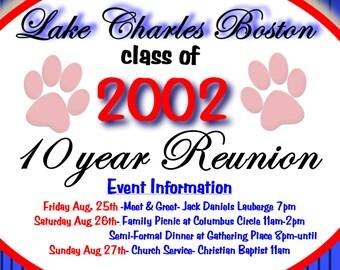 Reunion invite Etsy