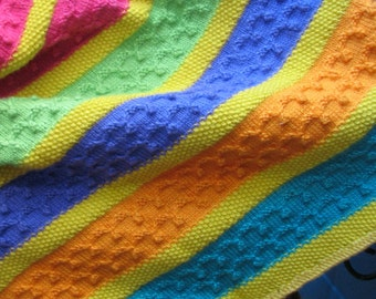 B-020 Multi Colored Knitted Afghan