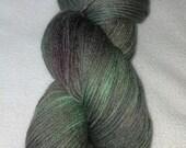 Lichen - Merino / Silk Fingering Yarn  Moss, Green, Olive OOAK