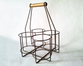 French Vintage style WIRE bottle carrier French decor /French kitchen / French country /Rustic