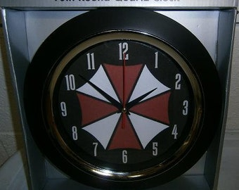 Custom-made Resident Evil Umbrella Corp. videogame wall clock