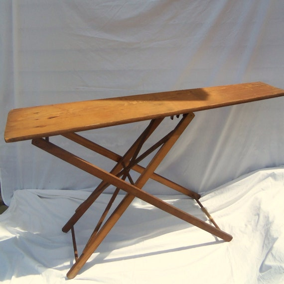 Antique Folding Wooden Ironing Board Farm Primitive Wood Old