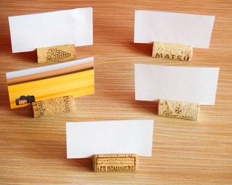 Wine Cork Place Card Holder, Set of 25